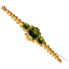 Antique Peridot Gold Bracelet