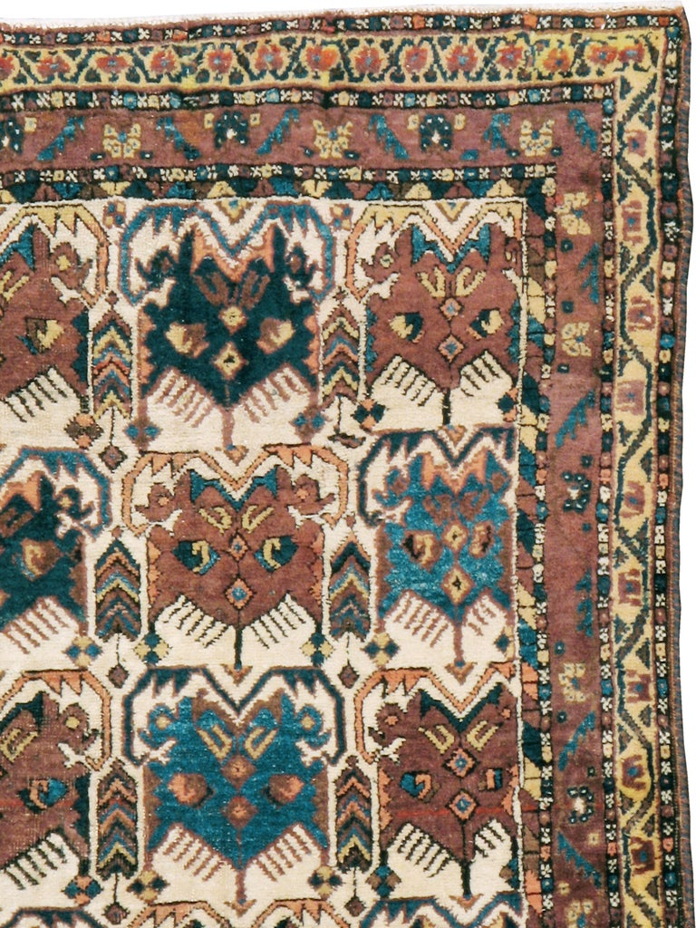 Tribal Antique Persian Afshar Rug For Sale