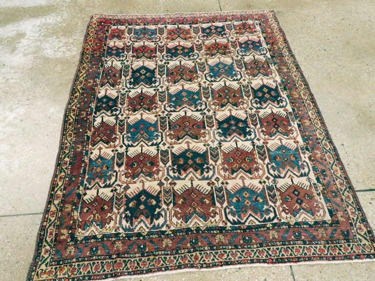 Antique Persian Afshar Rug In Good Condition For Sale In New York, NY