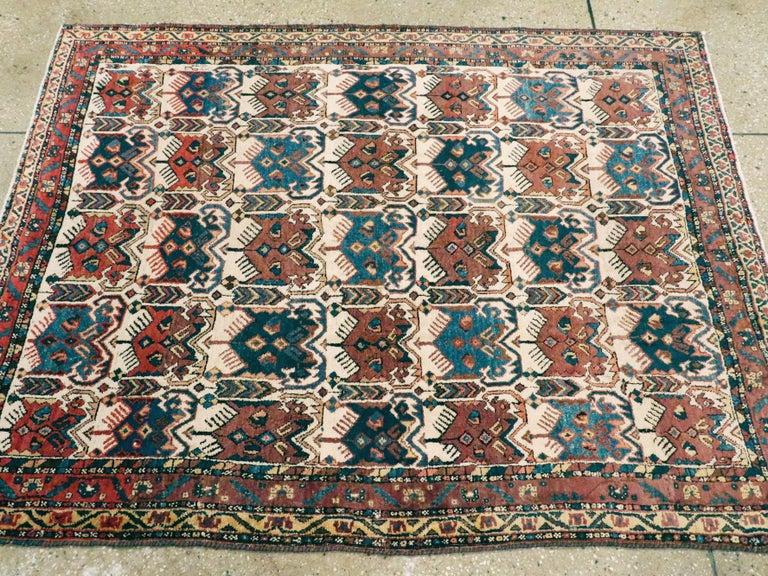 Antique Persian Afshar Rug For Sale 1