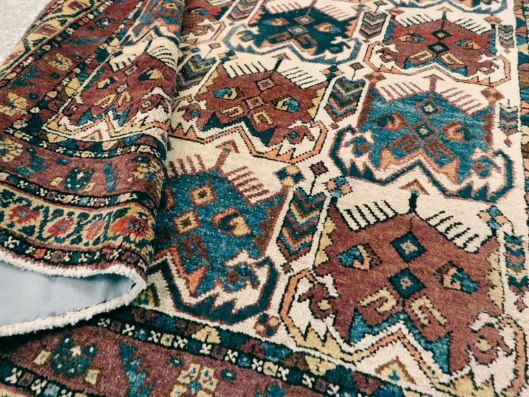 Antique Persian Afshar Rug For Sale 2