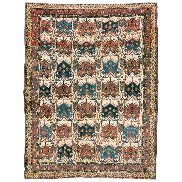 Antique Persian Afshar Rug For Sale