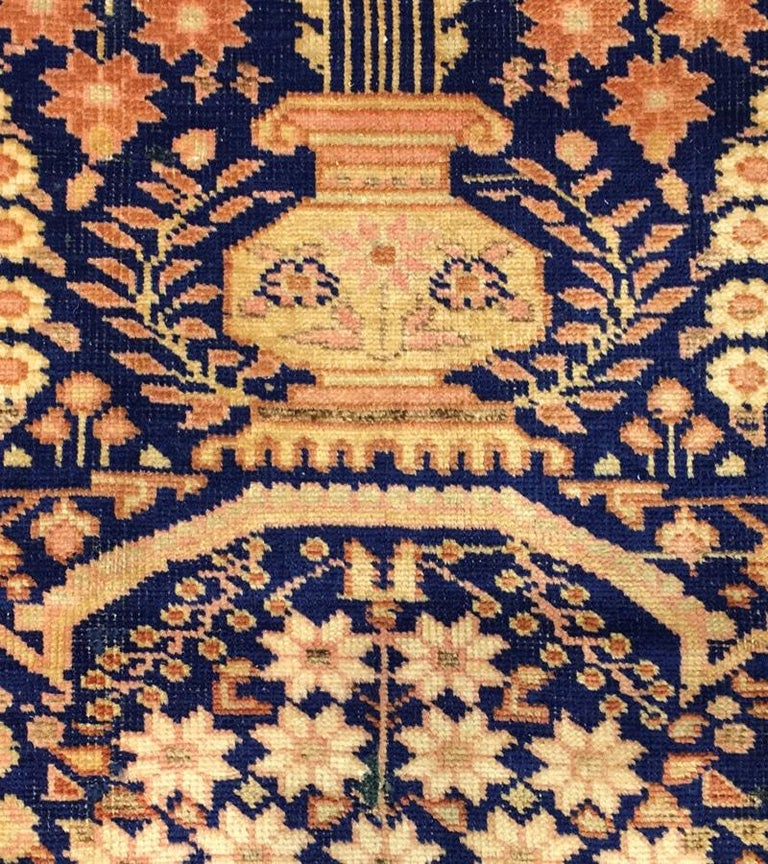 Wool Antique Persian Afshar Rug For Sale