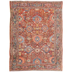 Antique Persian All-Over Serapi-Heriz Rug with All-Over Geometric Design