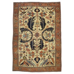 Antique Persian All-Over Serapi Rug with English Tudor Style