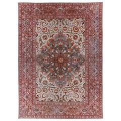 Antique Persian Area Rug Agra Design