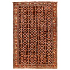 Antique Persian Area Rug Art Deco Design