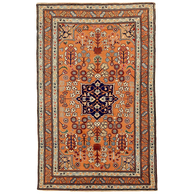 Antique Russian Area Rug Darband Design For Sale