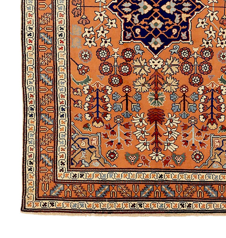 Other Antique Russian Area Rug Darband Design For Sale