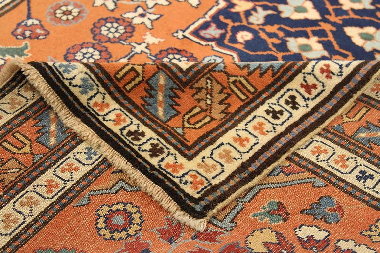 Hand-Woven Antique Russian Area Rug Darband Design For Sale