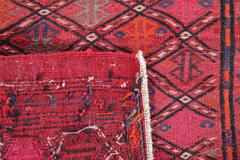 20th Century Antique Persian Area Rug Jajim Design For Sale