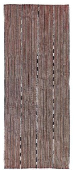 Antique Persian Area Rug Jajim Design, Size: 5' x 12'2''