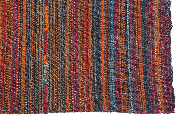 Hand-Woven Antique Persian Area Rug Jajim Design For Sale
