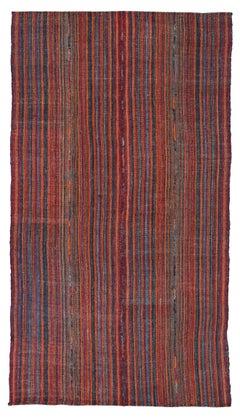 Antique Persian Area Rug Jajim Design, Size: 5'3'' x 9'