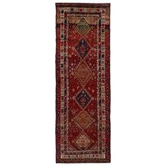 Antique Persian Area Rug Kazak Design