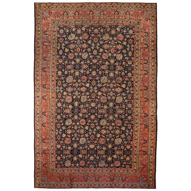 Antique Persian Area Rug Khoy Design For Sale