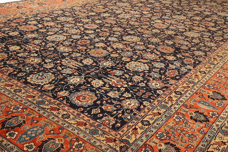 Other Antique Persian Area Rug Khoy Design For Sale