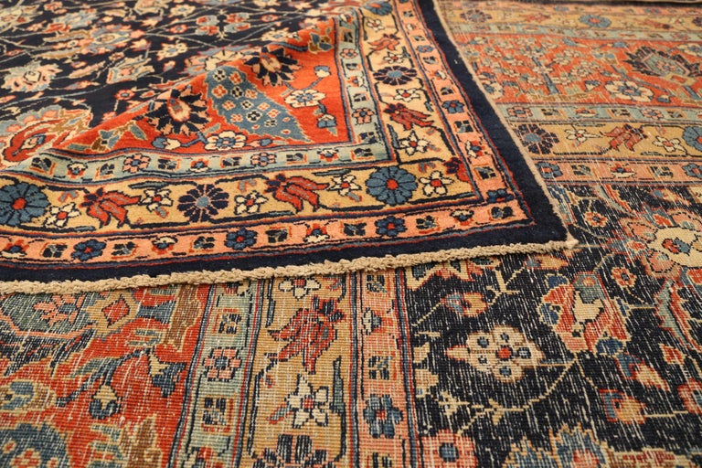 Hand-Woven Antique Persian Area Rug Khoy Design For Sale