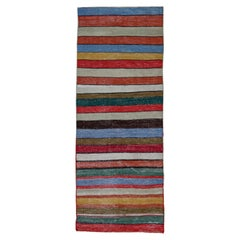 Antique Persian Area Rug Kilim Design