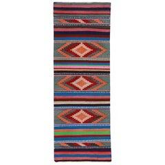 Antique Persian Area Rug Kilim Design