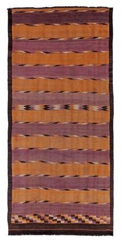 Antique Persian Area Rug Kilim Design, Size: 5'10'' x 12'5''