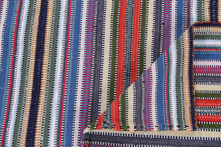 Wool Antique Persian Area Rug Kilim Design For Sale