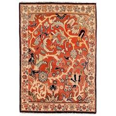 Antique Persian Area Rug Mahal Design
