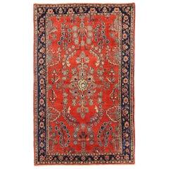 Antique Persian Area Rug Sarouk Design