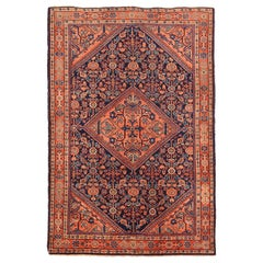 Antique Persian Area Rug Sultanabad Design