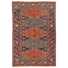Antique Persian Area Rug Zanjan Design