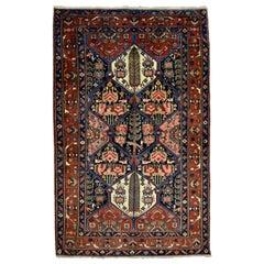 Antique Persian Bakhtiari Carpet with Classic Lozenge Design
