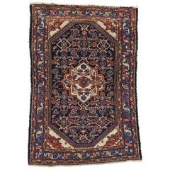 Antique Persian Bakhtiari Rug for Kitchen, Bathroom, Foyer or Entry Rug