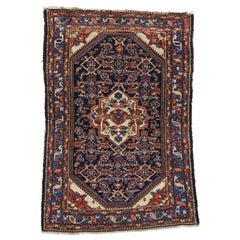 Antique Persian Bakhtiari Rug for Kitchen, Bathroom, Foyer or Entry Rug