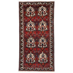Antique Persian Bakhtiari Rug, Persian Gallery Rug, Wide Hallway Runner