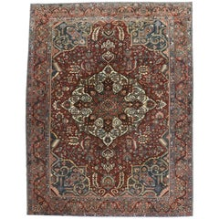 Antique Persian Bakhtiari Rug with Modern Traditional Style