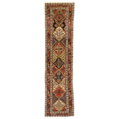 Antique Persian Bakhtiari Runner with Modern Rustic Pacific Northwest Style