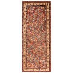 Antique Persian Bakshaish Area Rug. 4 ft 4 in x 10 ft 6 in