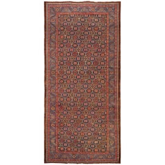 Antique Persian Bakshaish Gallery Size Rug. Size: 6 ft 7 in x 13 ft 9 in