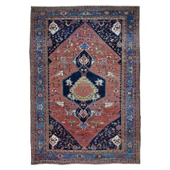 Antique Persian Bakshaish Good Cond Clean Pure Hand Knotted Rug