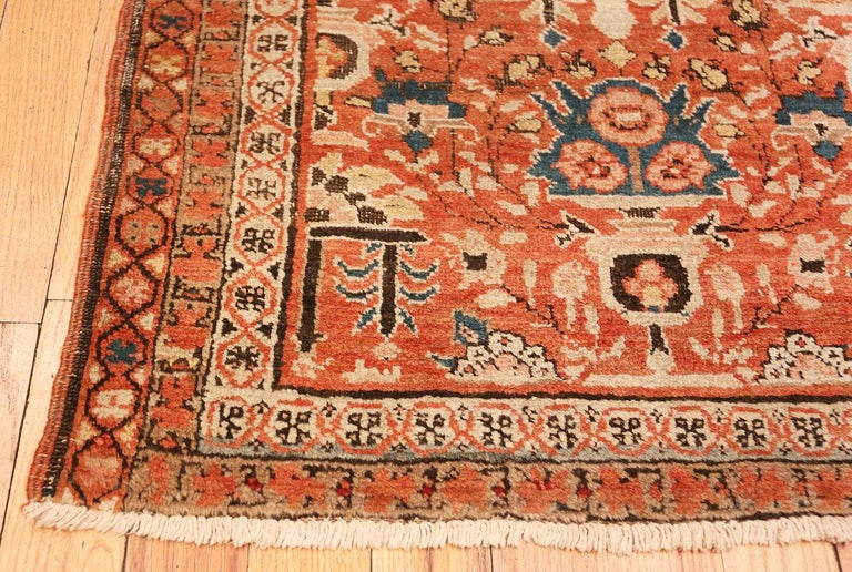 Hand-Knotted Antique Persian Bakshaish Rug For Sale
