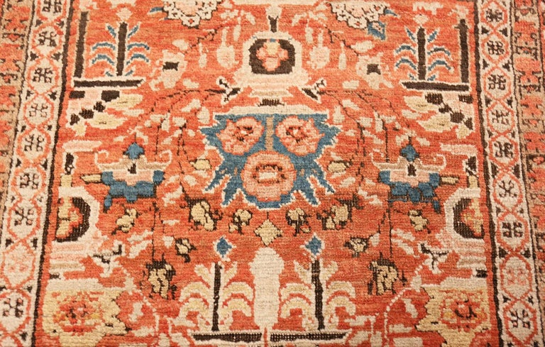 Antique Persian Bakshaish Rug In Good Condition For Sale In New York, NY