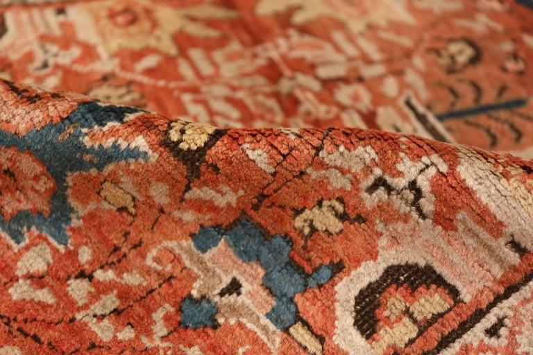 Wool Antique Persian Bakshaish Rug For Sale