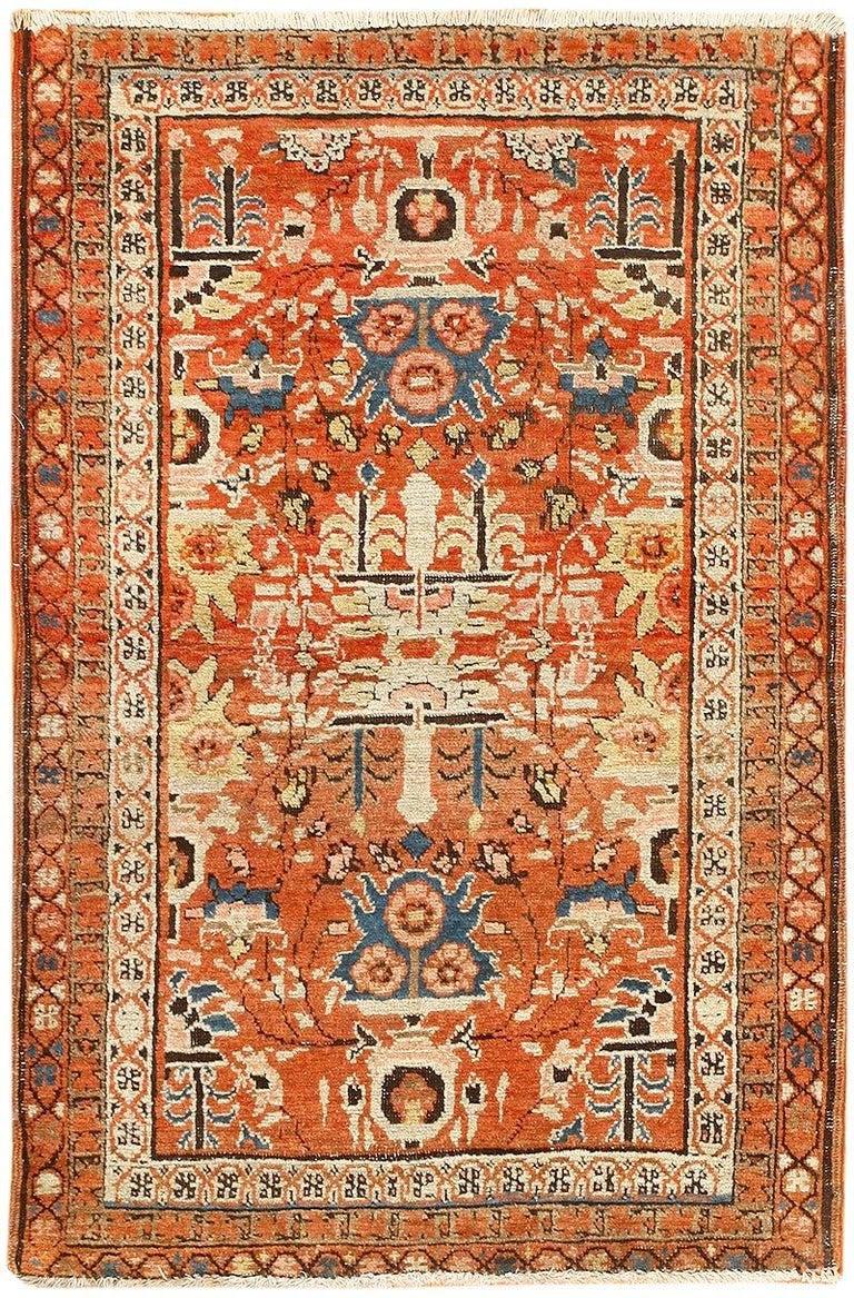 Antique Persian Bakshaish Rug For Sale
