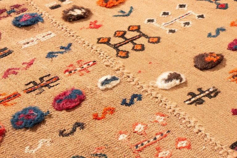 Antique Persian Beige and Red Kilim-Jajim Wool Rug 2