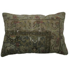 Antique Persian Bibikabad Lumbar Rug Pillow