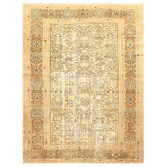 Antique Persian Bibikabad Shabby Chic Rug. Size: 6 ft 10 in x 9 ft 3 in