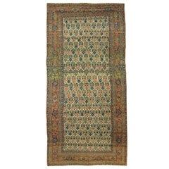 Antique Persian Bidjar Gallery, Runner, circa 1880