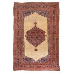 Antique Persian Bidjar Mansion Carpet, Cream Field, circa 1900s