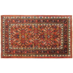 Antique Persian Bidjar Oriental Rug, in Small Size, w/ Herati Design, circa 1920