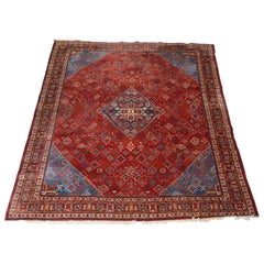 Antique Persian Bidjar Room Size Handwoven Oriental Carpet, circa 1930